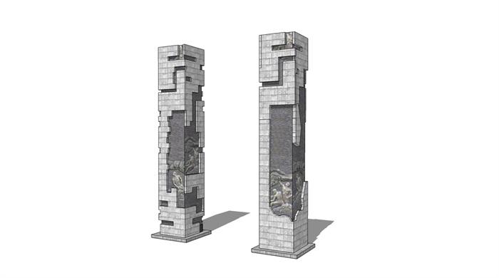 浮雕柱景观石柱(1)