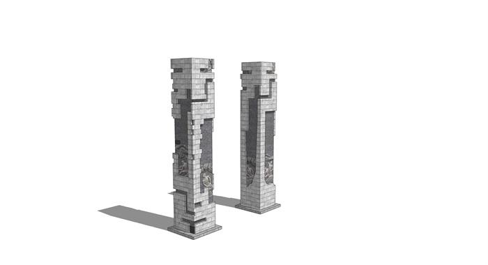浮雕柱景观石柱(2)