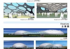 桥梁建筑方案概念设计手稿及效果图