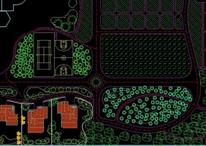 农业观光园cad平面方案图