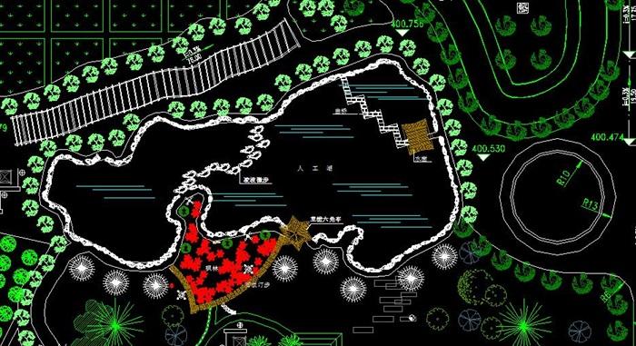 农业生态观光园规划cad方案平面图