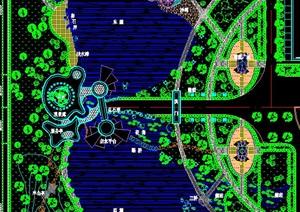 生态度假村总平面景观环境设计图