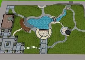 公园 SU(草图大师)模型