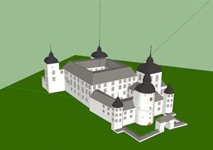 城堡(SU草图大师)模型_