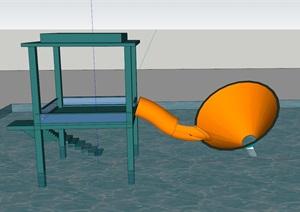 水上大喇叭(SU草图大师)模型