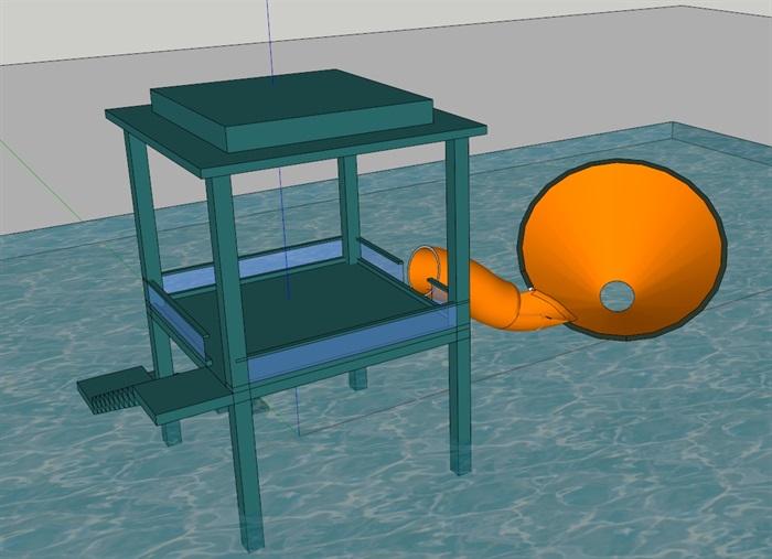 水上大喇叭(SU草图大师)模型(2)
