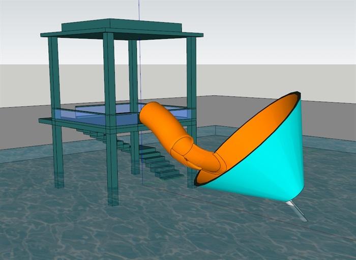 水上大喇叭(SU草图大师)模型(3)