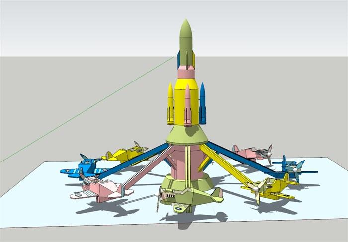 自控飞机(SU草图大师)模型(1)