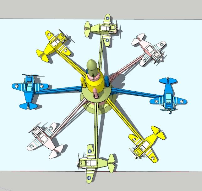 自控飞机(SU草图大师)模型(2)