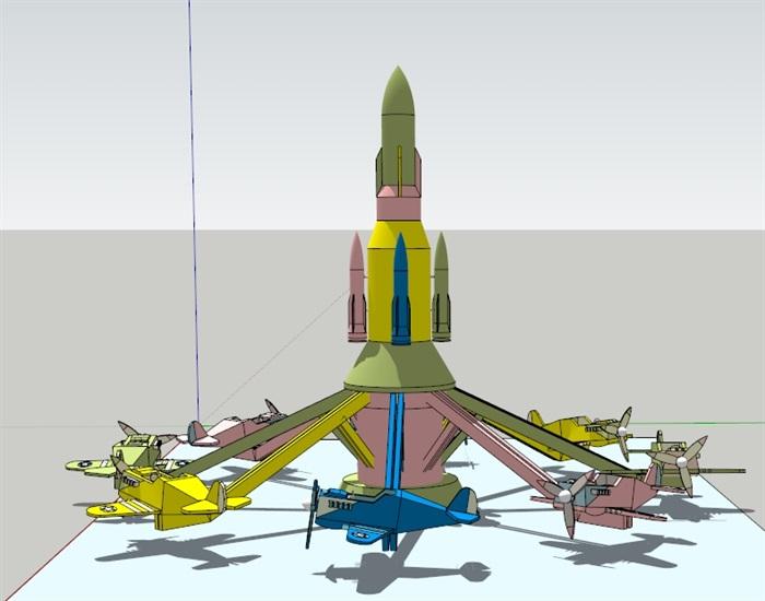 自控飞机(SU草图大师)模型(3)