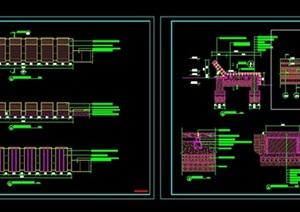 景观(躺椅坐凳)详细CAD施工图