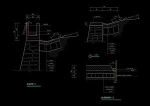 现代挡墙详细设计cad图