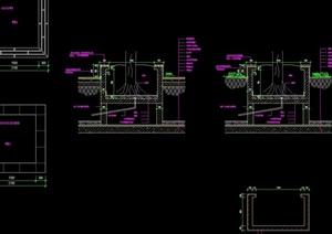 现代挡墙详细完整设计cad施工图