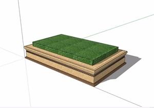现代长方形树池设计SU(草图大师)模型