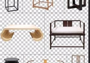 八款古典中式风格PSD家具素材