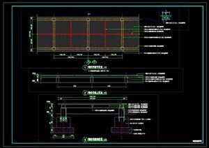 """景观""""钢板栈道""""详细CAD施工图"""