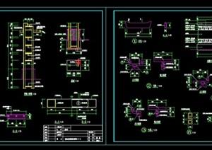 """现代中式风格""""标志景架""""详细CAD施工图"""