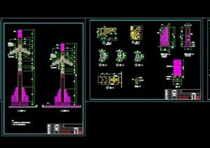 """主入口""""牌坊""""详细CAD施工图"""