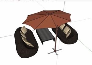 伞桌素材设计SU(草图大师)模型