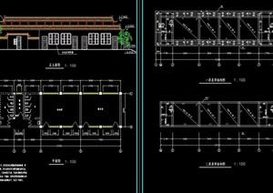 老年活动中心建筑cad施工图