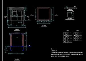 泵房设计cad施工图纸