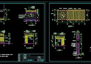 (中式廊架)详细CAD施工图