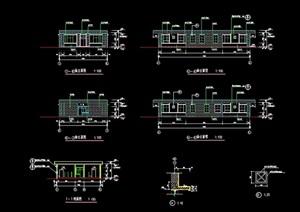 单层详细厕所设计cad施工图