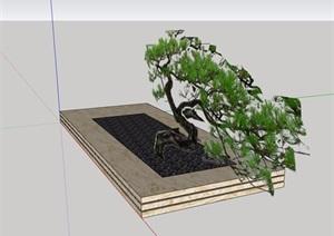 现代风格住宅树池SU(草图大师)模型
