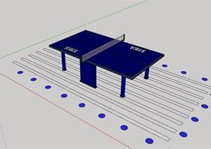 乒乓球桌素材SU(草图大师)模型