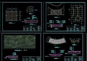 地面铺装铺地设计cad施工图