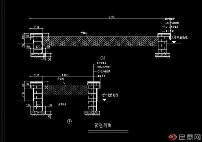 地面铺装设计cad施工图cad绘图比例怎么图片