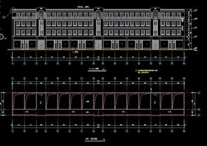 商业办公多层建筑设计cad方案