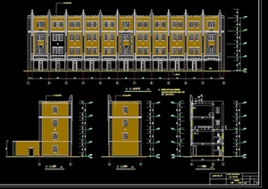商业住宅详细的建筑设计cad方案