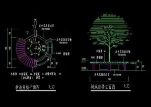 现代详细的种植树池cad施工图
