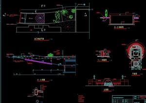 车库入口详细设计cad施工图