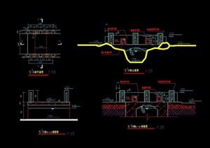小桥详细设计cad立剖图