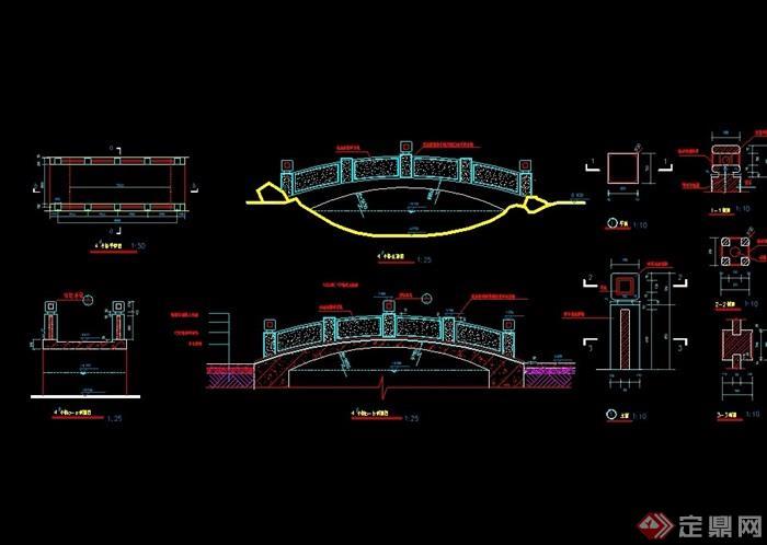 石拱桥cad立剖建施祥图cad64哪个最稳定位版本?图片