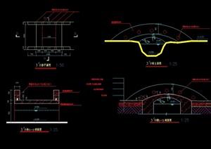 园桥详细设计cad平立剖面图