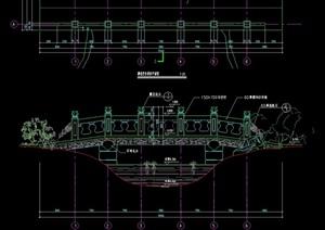 雕花栏杆景桥设计cad施工图