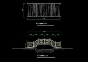 中式石拱桥设计cad方案