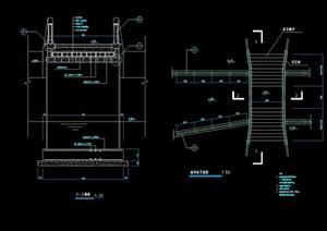 现代园林景观过河桥设计cad施工图