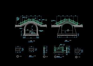 古典中式石拱桥cad施工图