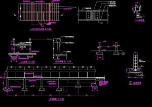 人行天桥设计cad施工图
