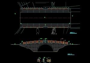 中式园桥设计cad施工图