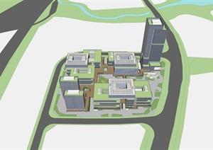 广州某地块科技产业园精细模型