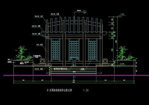 休闲廊亭素材设计cad施工图