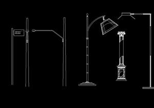 路灯及灯杆设计cad方案