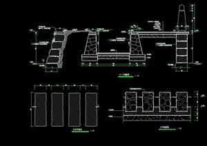 园林景观汀步素材设计cad施工图