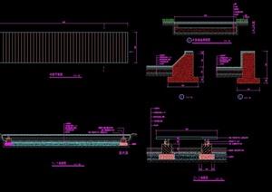 详细的经典完整的木桥设计cad施工图