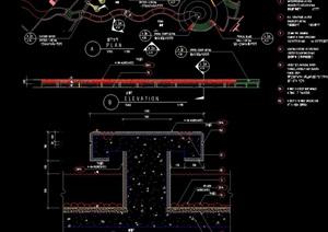 汀步过河桥设计cad施工图